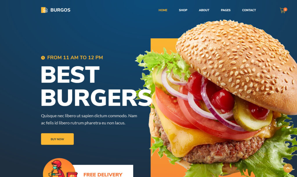 Burgos Fast Food and Street Food WordPress Theme