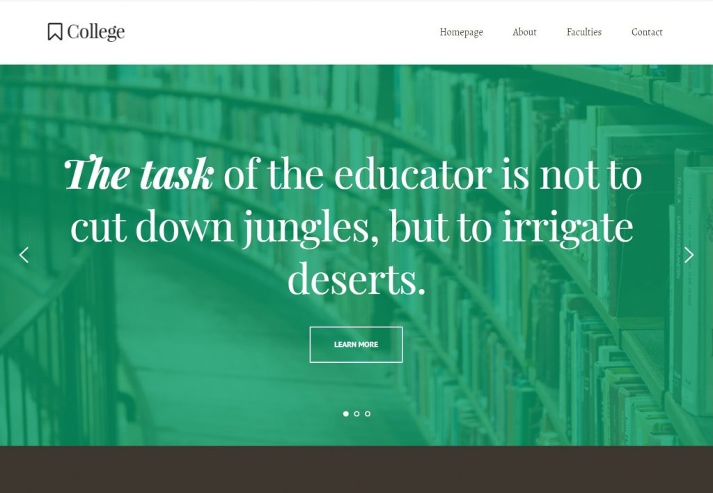 College Education Template Brizy Page Builder