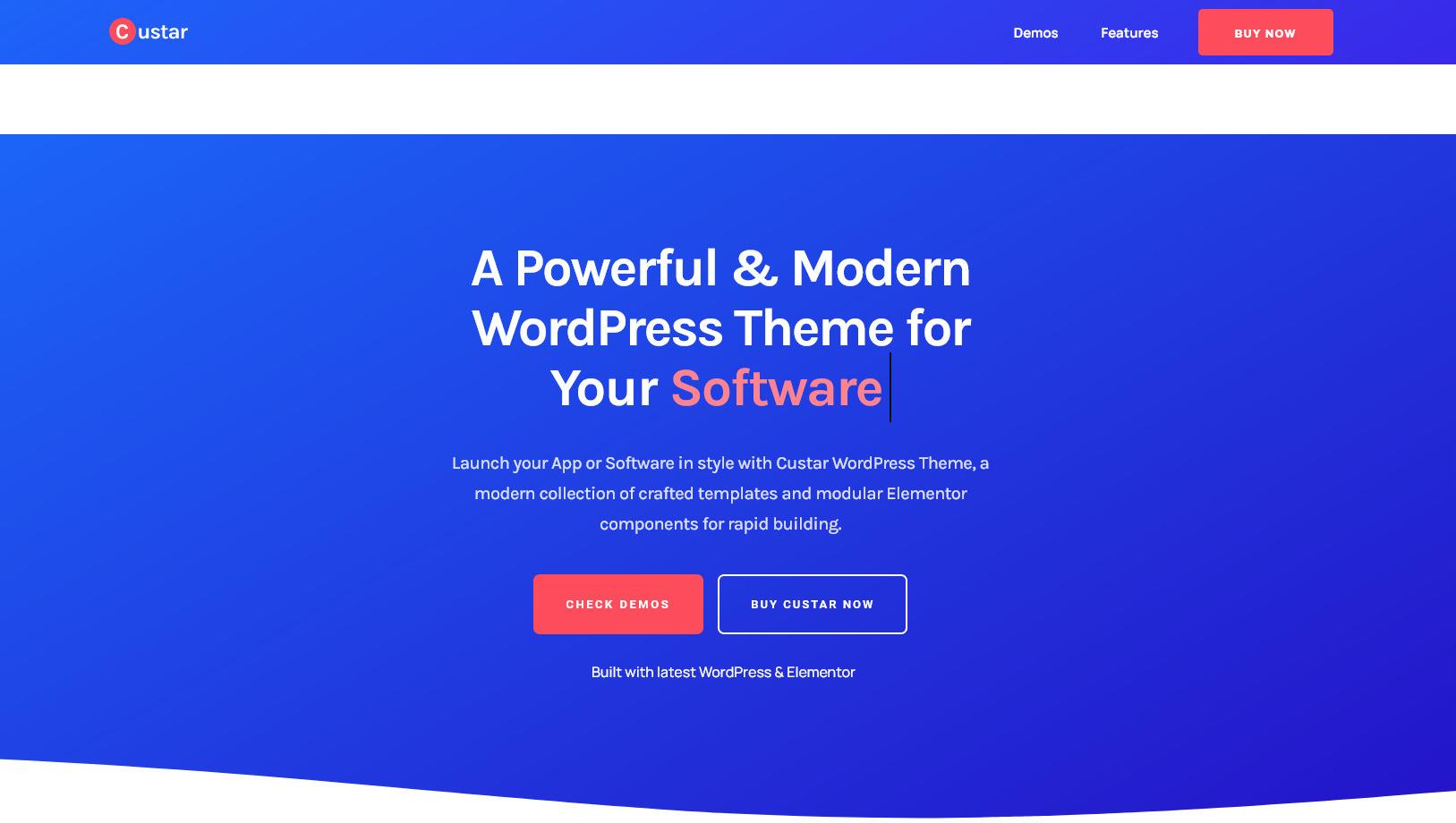 Custar FinestDevs Applications and App Lander WordPress Theme