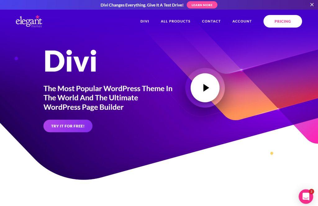 Divi Modern Page Builder WordPress Theme Education