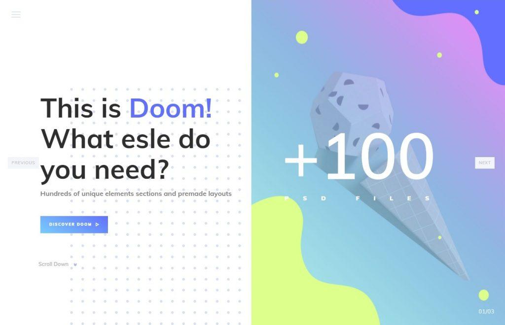 Doom Multi Purpose WordPress Theme Graphic Design