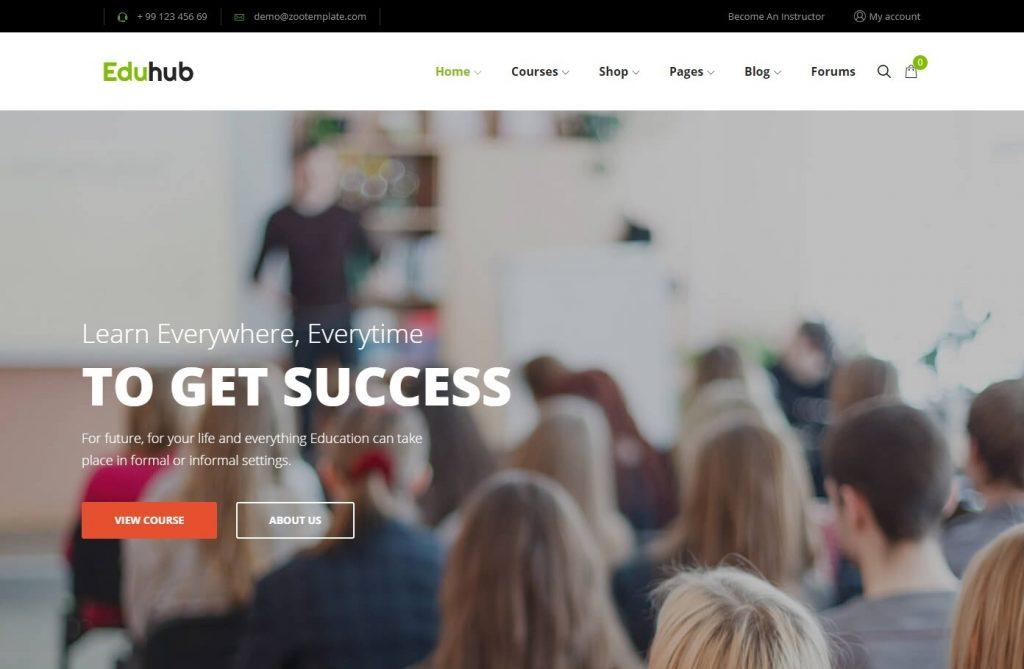 Eduhub WordPress Theme for Online Education Systems