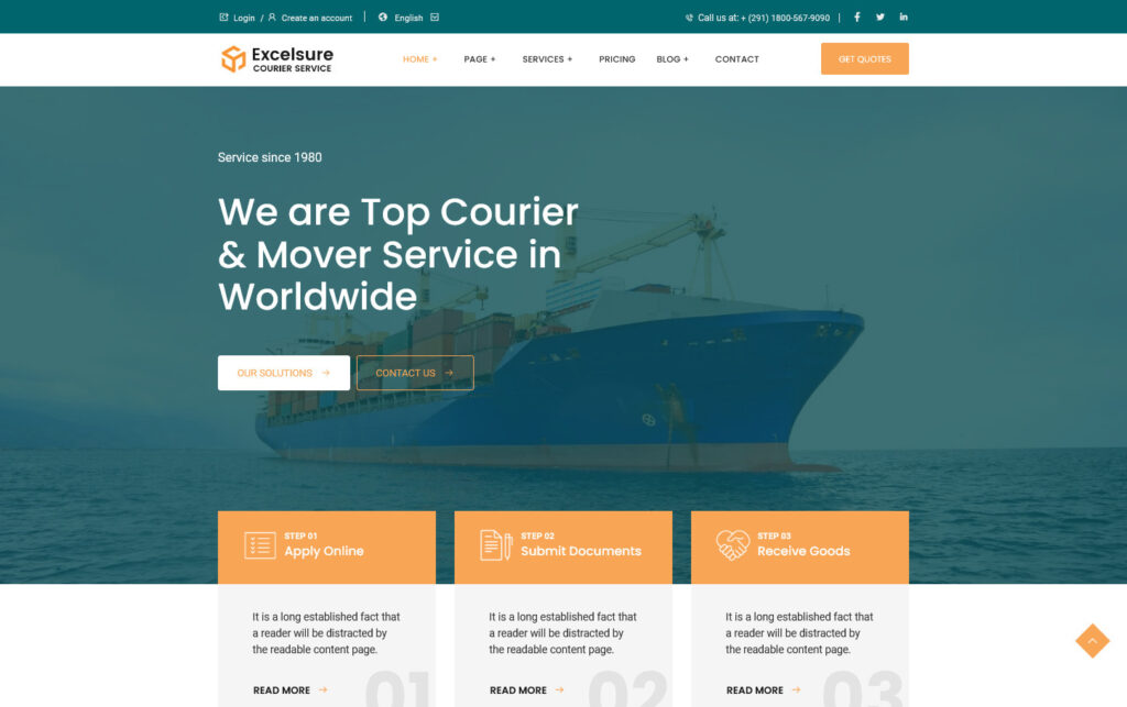 Excelsure Courier Shipping and Logistics WP Theme