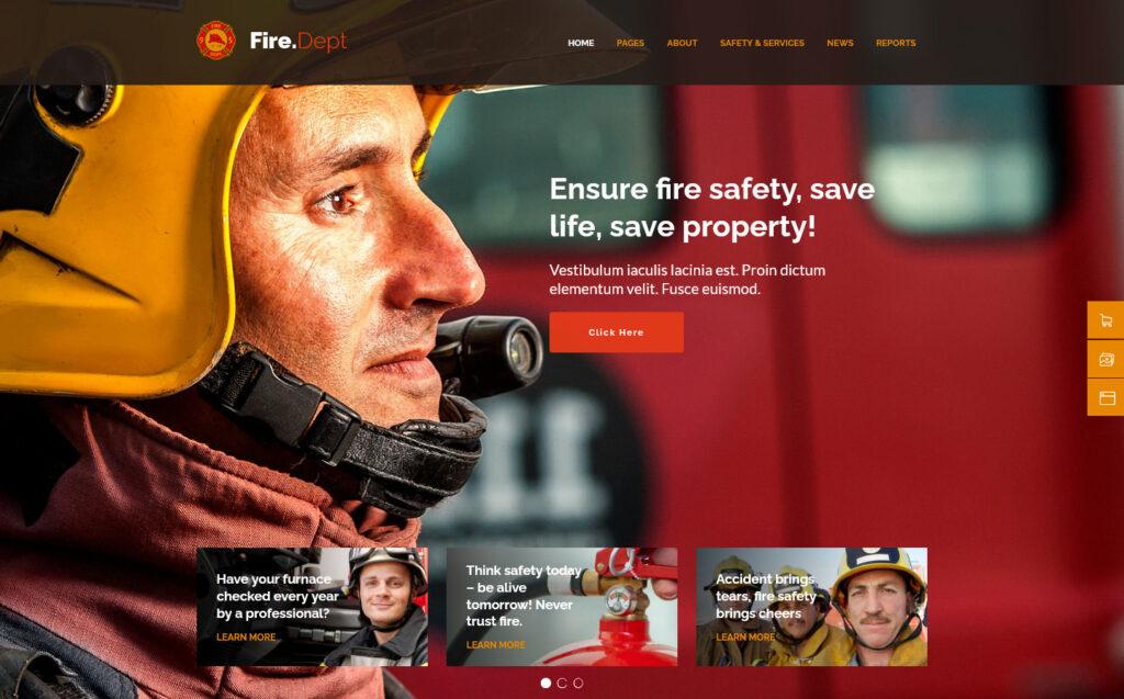 Fire Department Premium WordPress Theme