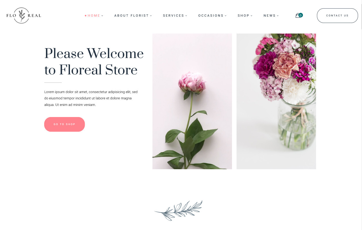 Floreal Florist and Flower Shop WordPress Theme