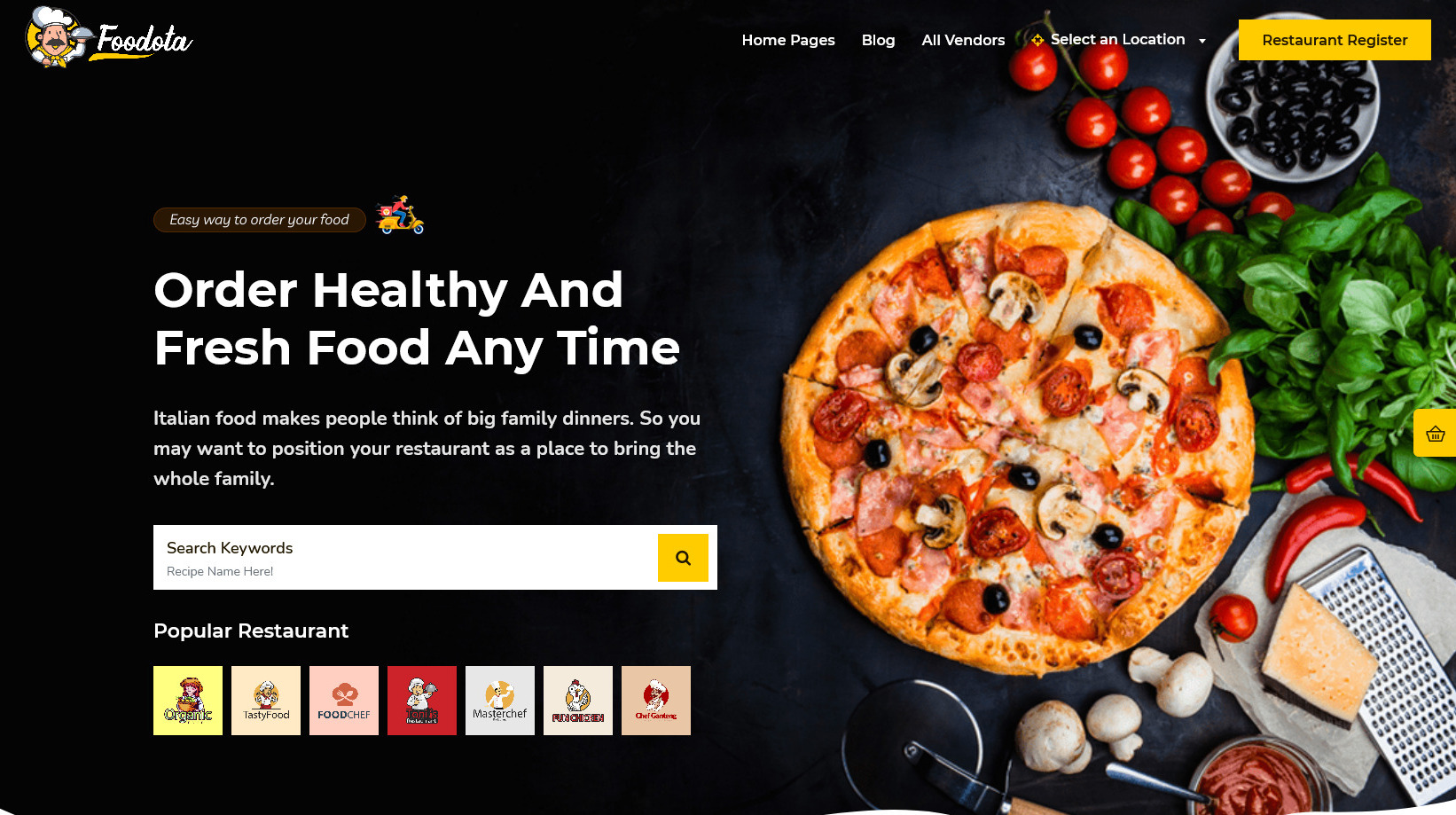 FoodOTA Fast Food and Food Delivery WordPress Theme