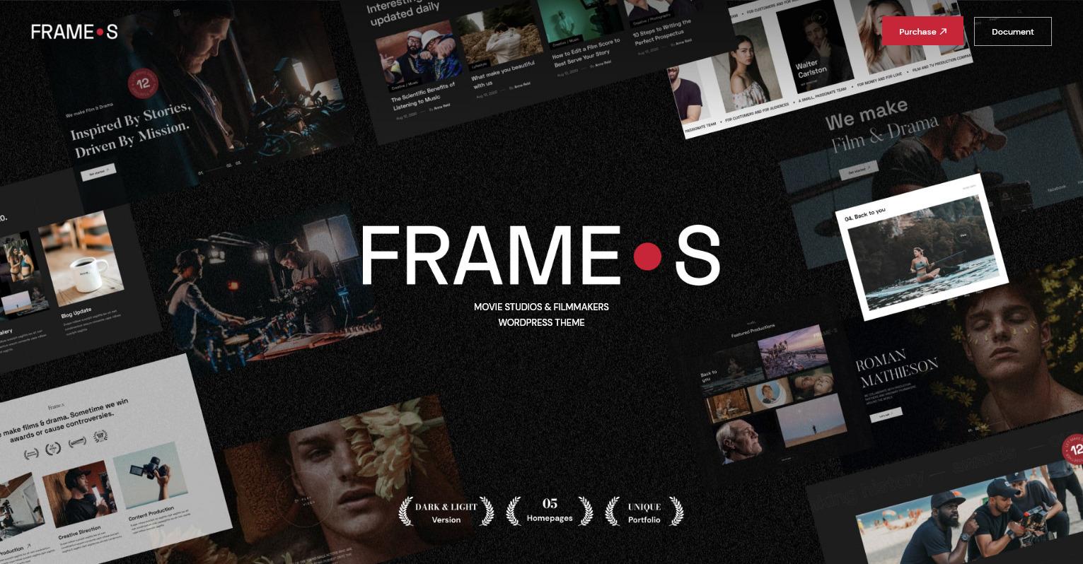 Frames Movie Studio and Filmmaker WordPress Theme