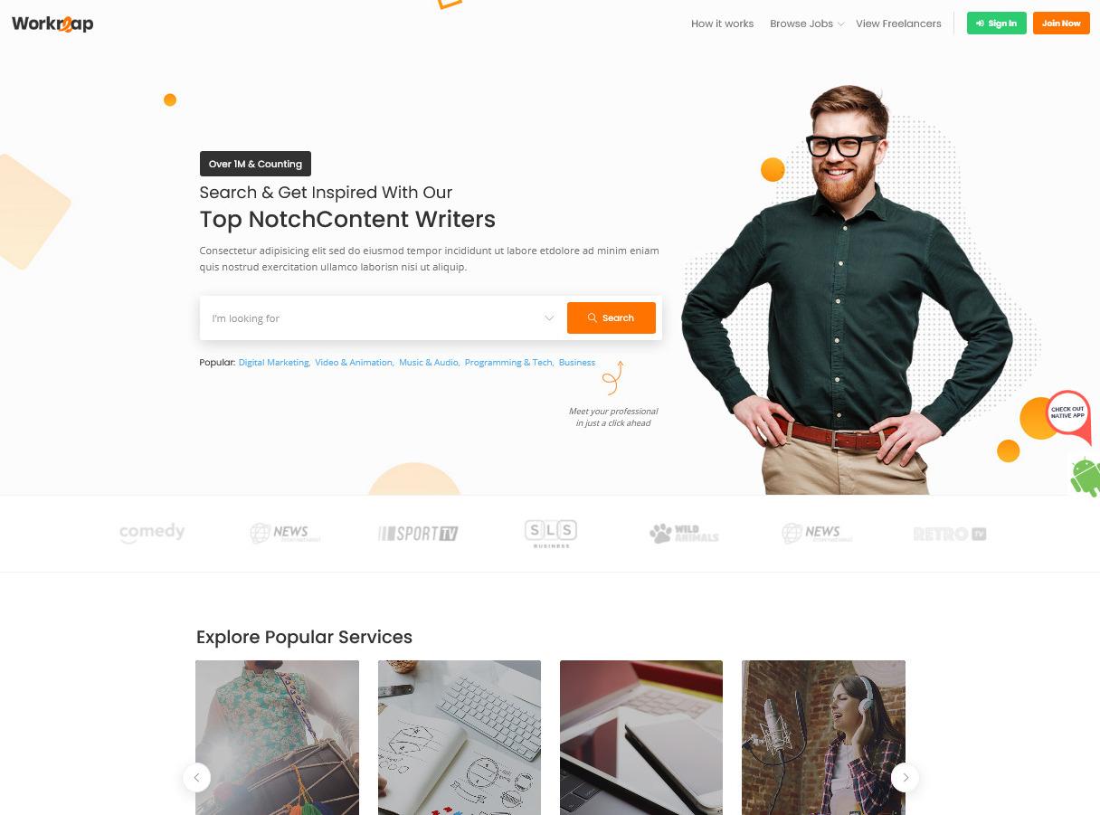 Freelance Marketplace WordPress Themes