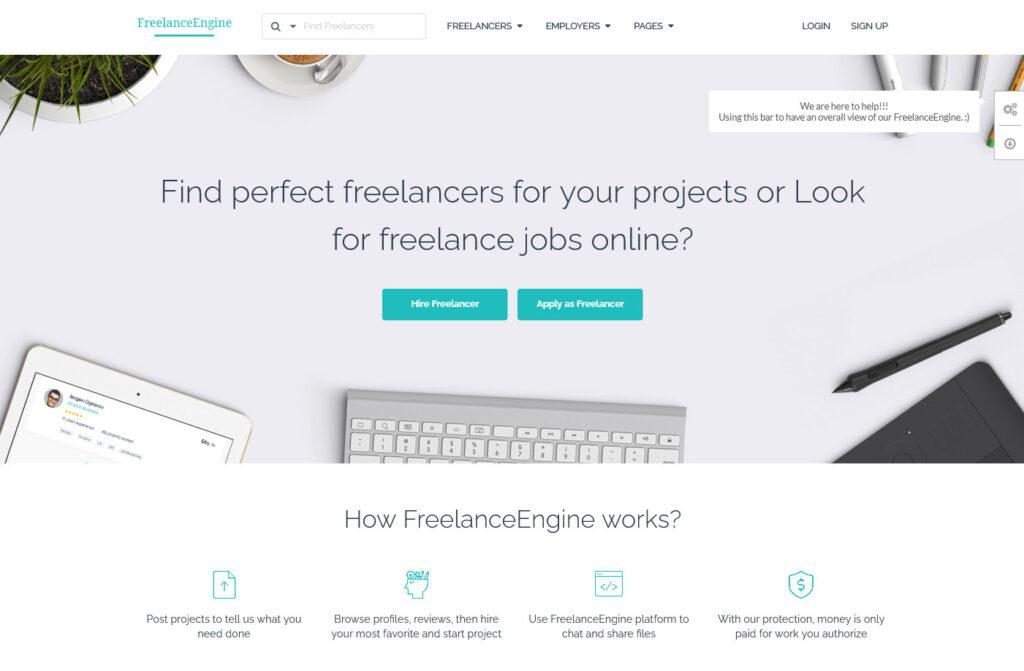 FreelanceEngine EngineThemes A Powerful Project Bidding Theme For Freelance Marketplace