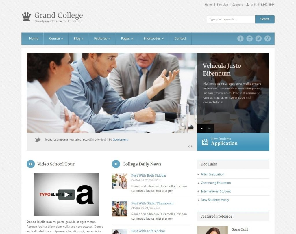 Grand College LMS and Education WordPress Theme