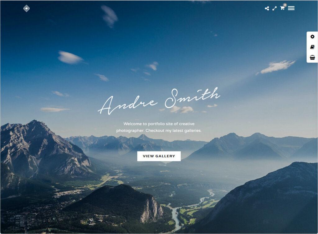 Grand Portfolio Clean Simple Elegant Graphic Design Portfolio Theme
