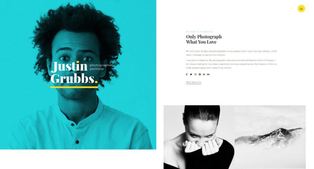 Justin Grubbs Creative Agency Portfolio WordPress Theme