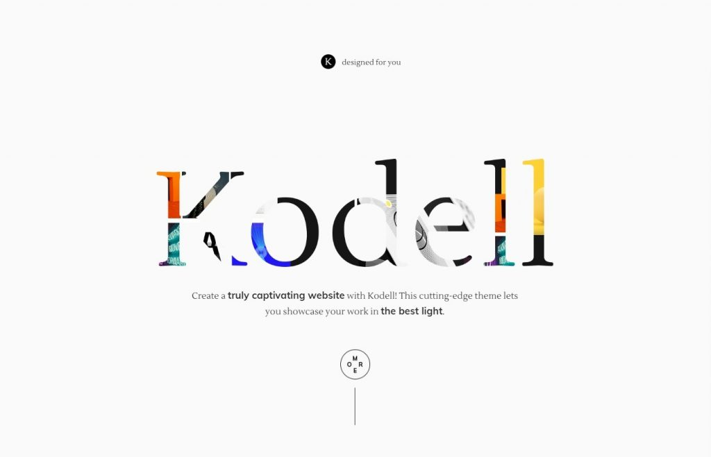 Kodell Clean Graphic Design Homepage for WordPress