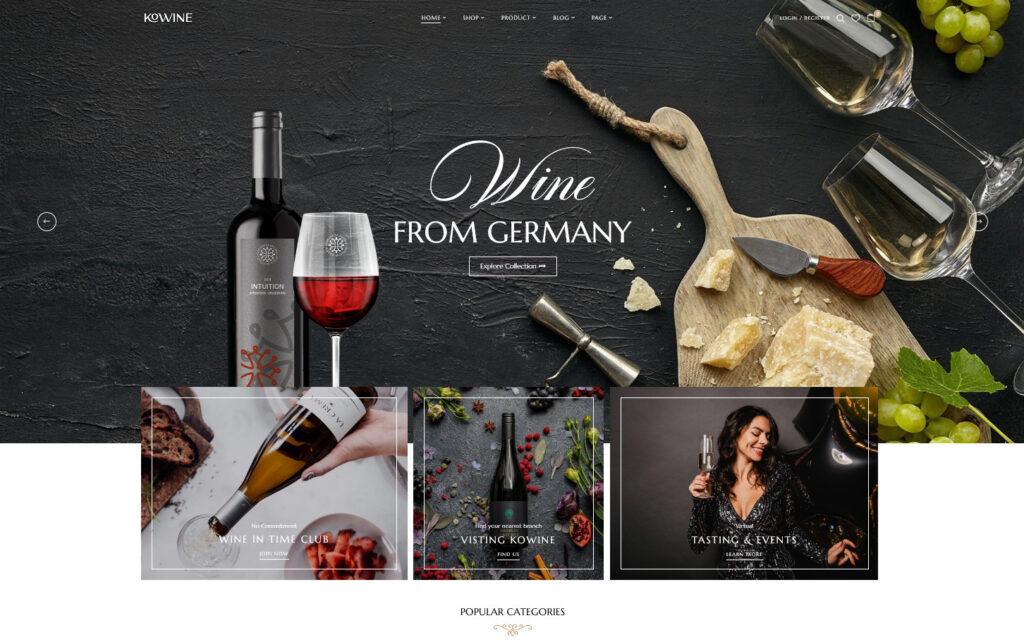 Kowine Wine Store WooCommerce Theme