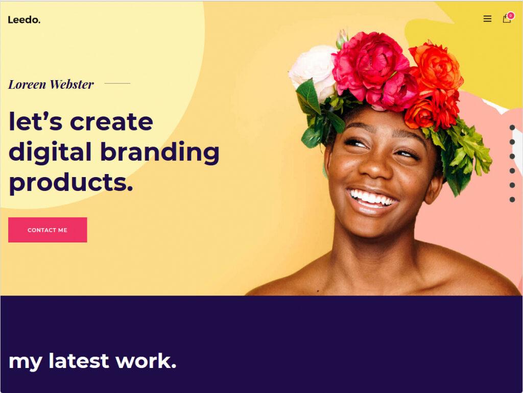 Leedo Modern Colorful Graphic Design Portfolio WordPress Theme