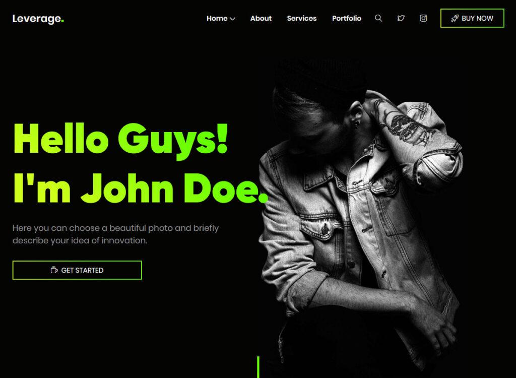 Leverage Creative Agency and Portfolio WordPress Theme