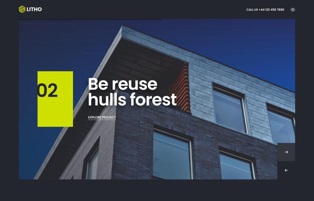 Litho The Multipurpose Elementor WordPress Theme – Architecture