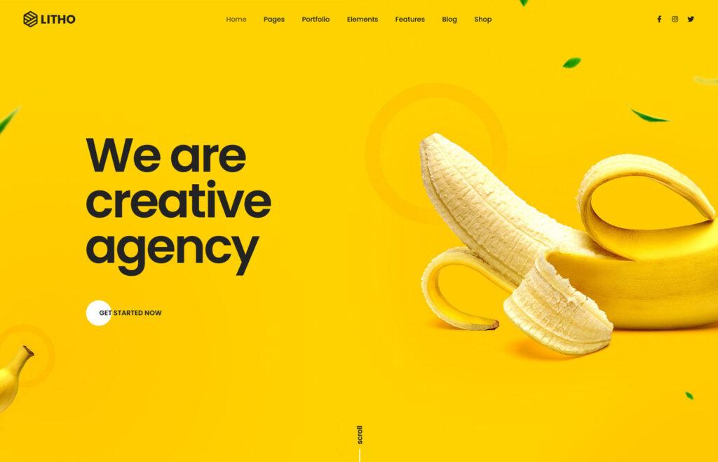 Litho The Multipurpose Elementor WordPress Theme Design Agency