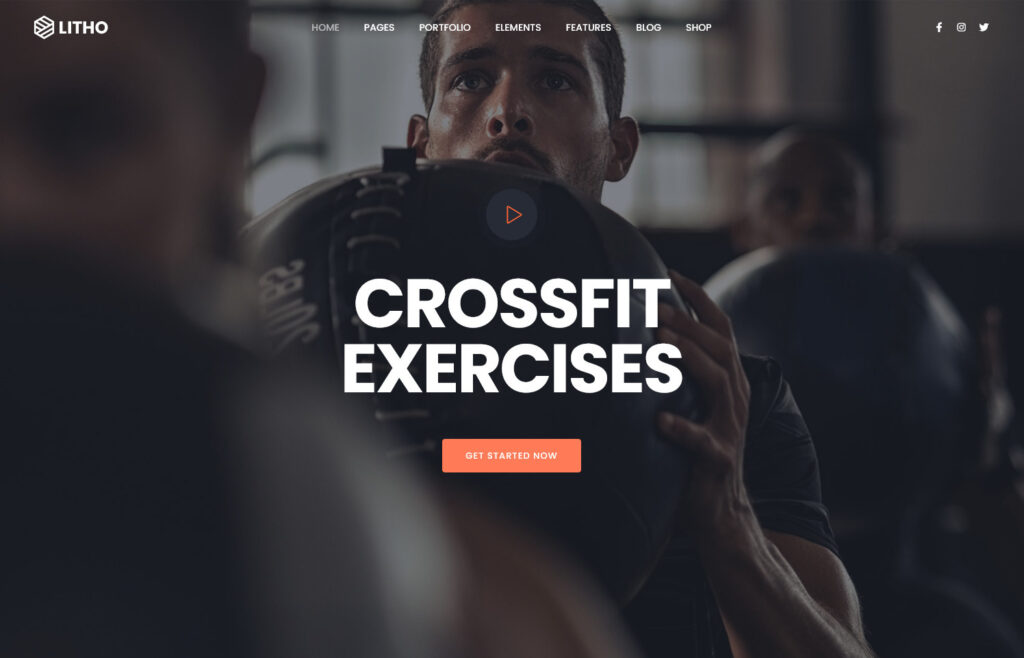 Litho The Multipurpose Elementor WordPress Theme Gym Fitness