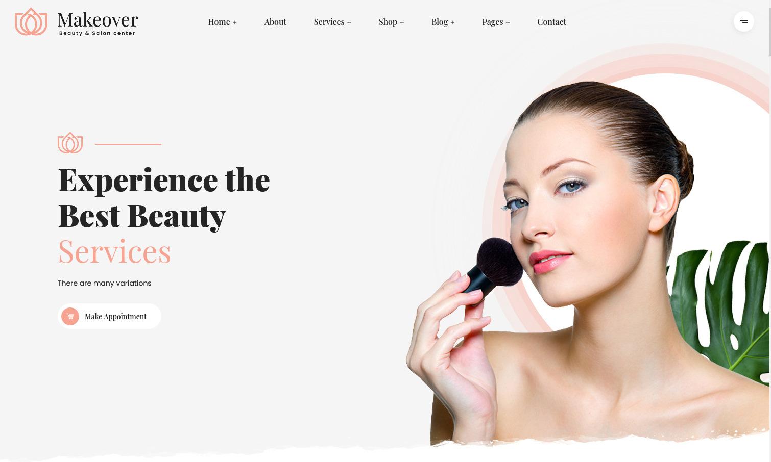 Makeover Spa Salon WordPress Theme