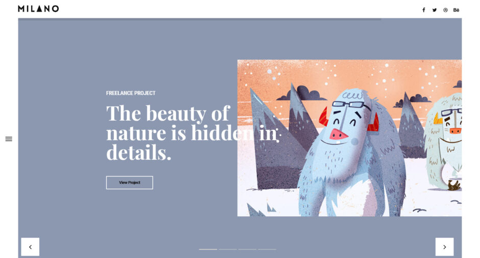 Milano Creative Minimal Graphic Designer Portfolio
