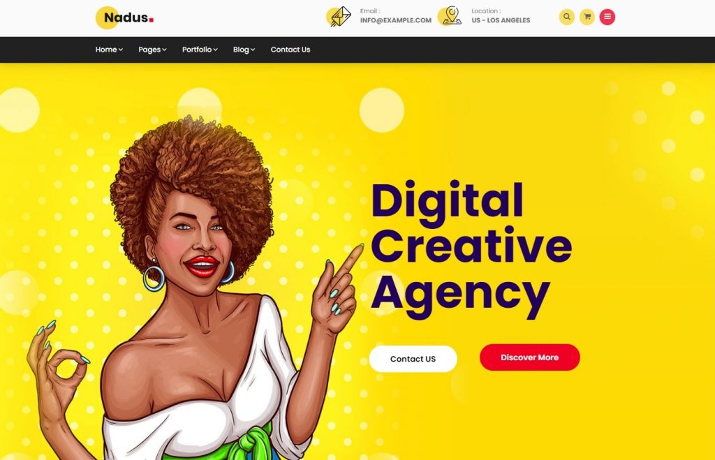 Nadus Creative WordPress Theme Graphic Designers