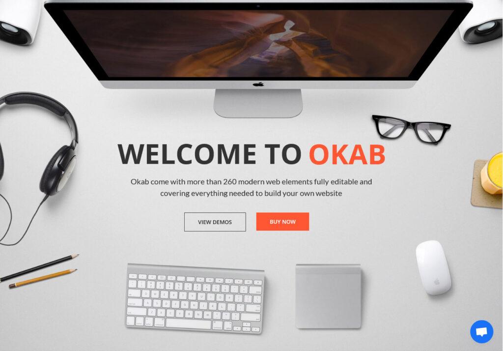 Okab Responsive Multi Purpose WordPress Theme for Creative Agency