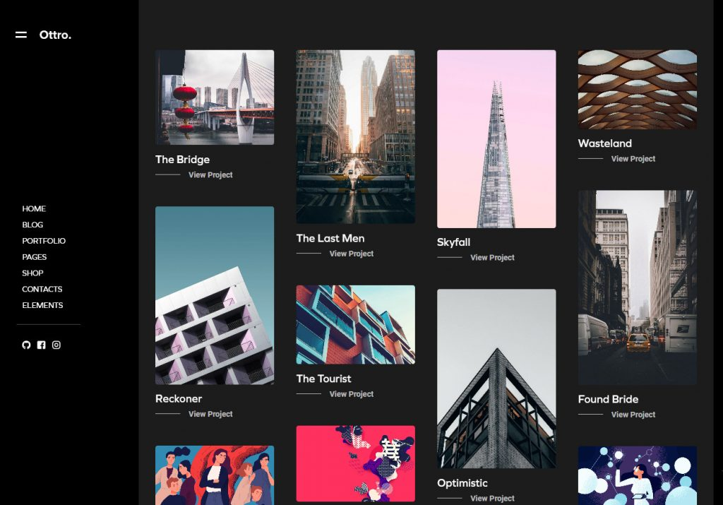 Ottro Portfolio Creative Agency MultiPurpose WordPress