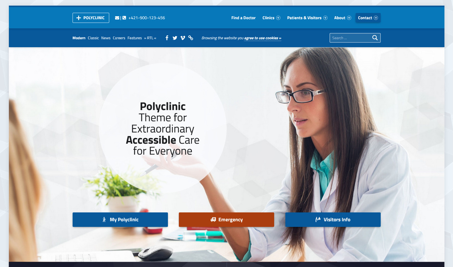 Polyclinic Accessible Medical Theme