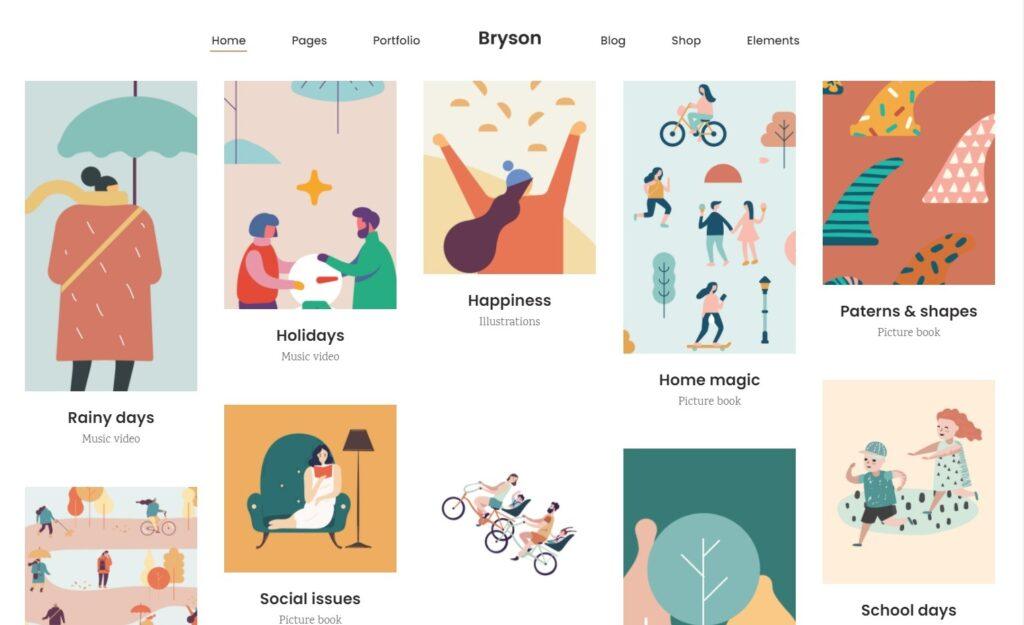 Portfolio Pinterest Style Graphic Designers Bryson