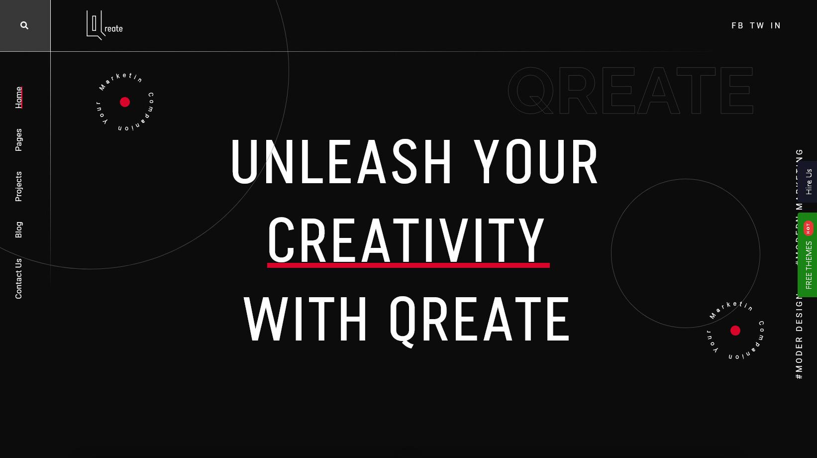 Qreate Creative Agency WordPress Themes
