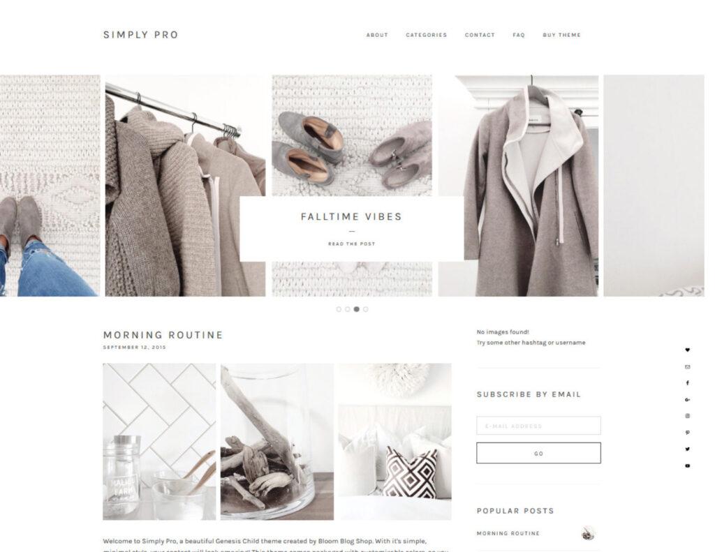 Simply Pro WordPress Minimal Style Graphic Design Theme