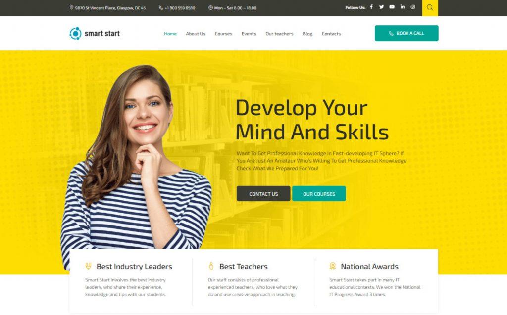 Smart Start Online Education WordPress Theme 1024x637 1