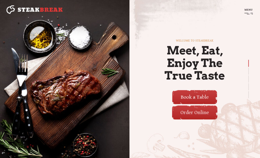 Split Showcase – Steakbreak Meat Restaurant WordPress Theme