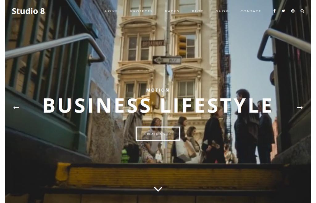 Studio 8 Creative Agency WordPress Portfolio Theme Minimal Style