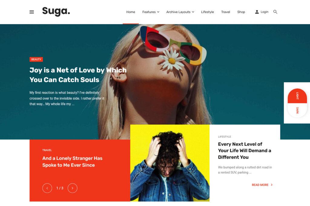 Suga Ecommerce Magazine WordPress Theme