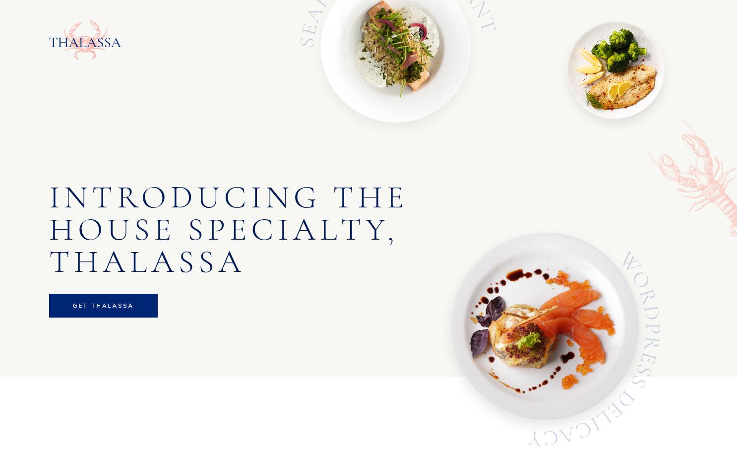 Thalassa Seafood Restaurant WordPress Theme
