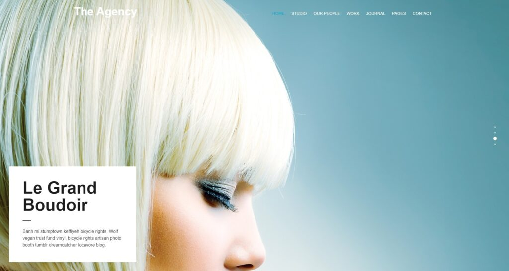 The Agency Flat Creative Agency Centered WordPress Theme