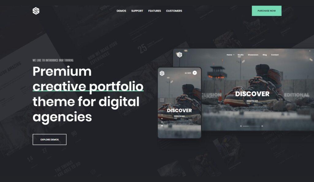 Tourog Creative Photographer and Agency Landing Page