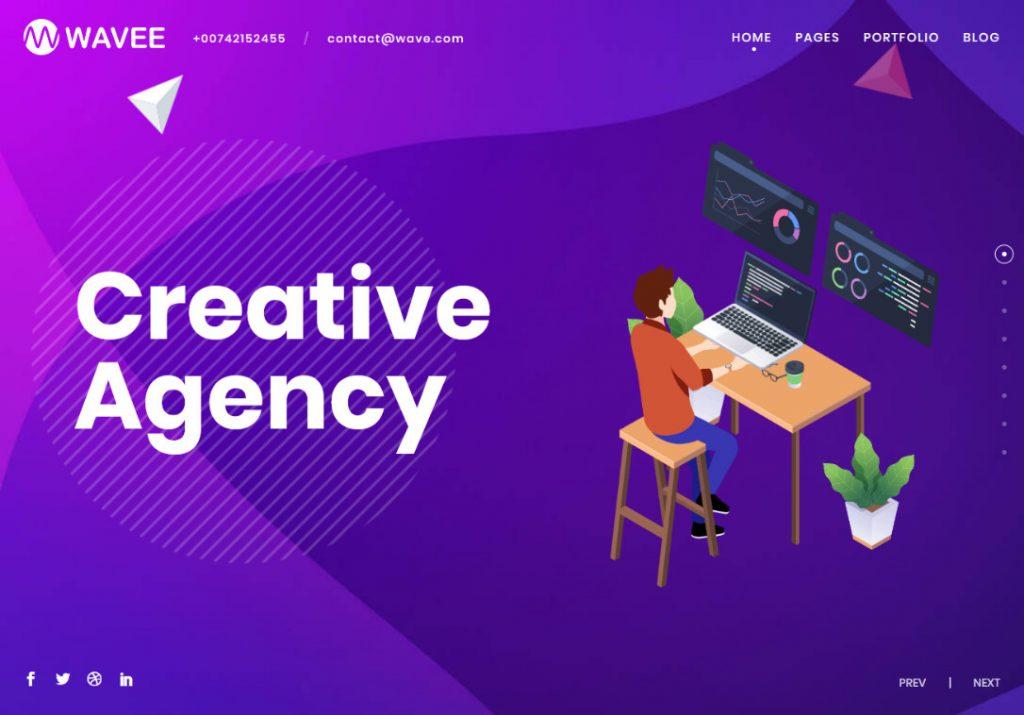 Wavee Creative Portfolio and Agency WordPress Theme