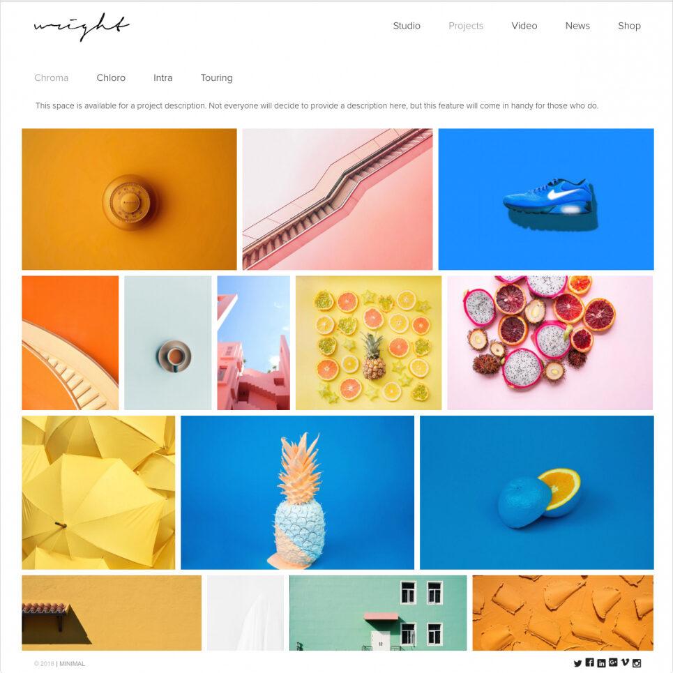 Wright Minimalist Creative Agency WordPress Portfolio Theme