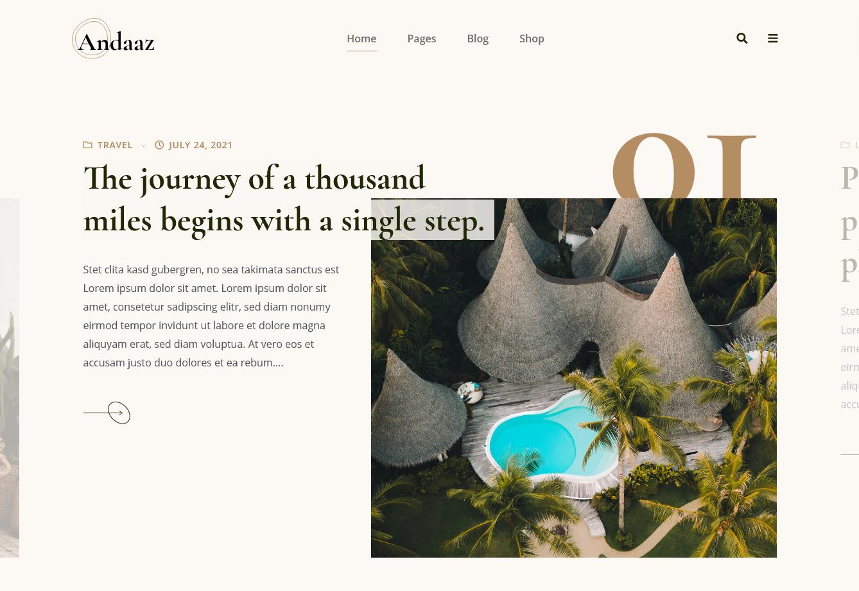 Andaaz Lifestyle Blog WordPress Theme