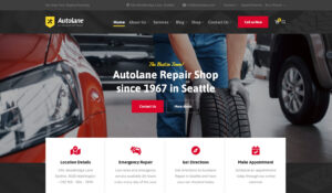 Autolane Auto Mechanics Theme Says We Keep Your Engine Running
