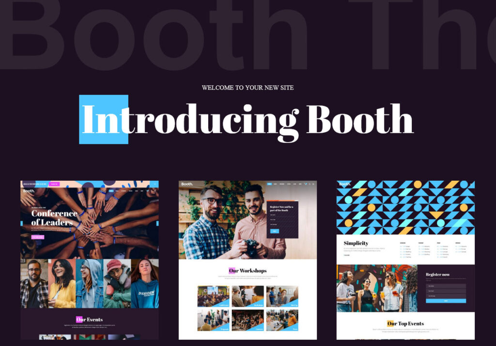 Booth WordPress Theme for Planning Events