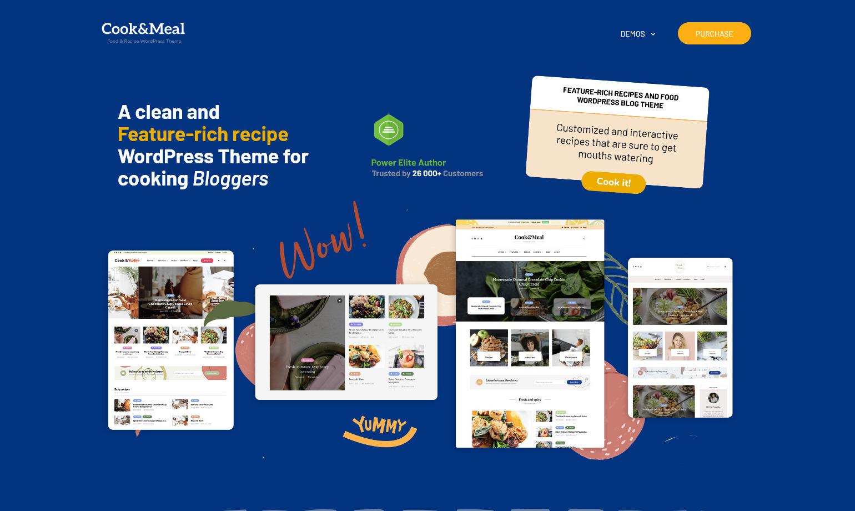 CookMeal Food Recipe WordPress Theme