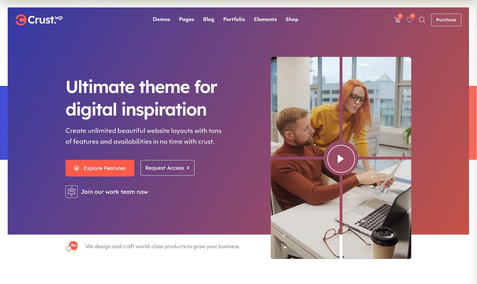 Crust DIgital Agency and Multipurpose WordPress Theme