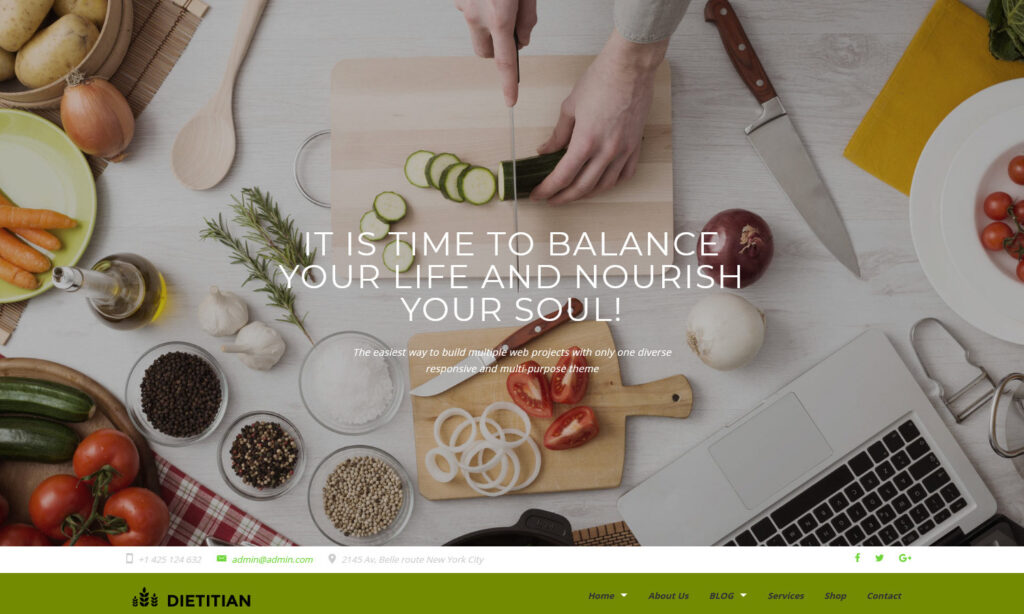 Dietitian WordPress Theme for Dieticians and Nutritionists