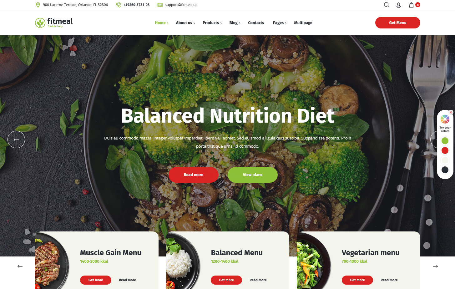 FitMeal – WordPress Theme for Nutritionists and Dieticians