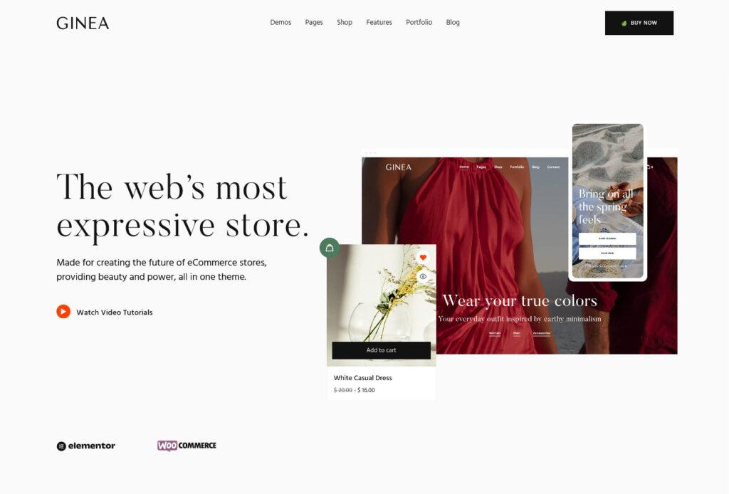 Ginea WooCommerce WordPress Theme
