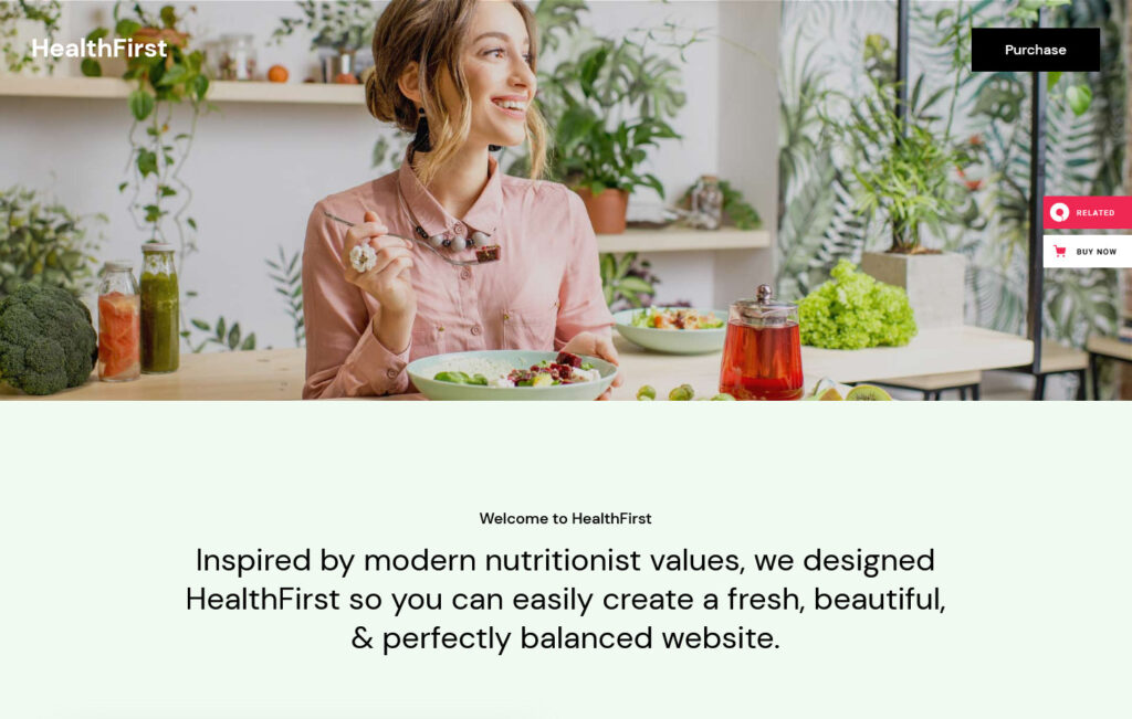 Healthfirst Healthy Living and Dietician WordPress Theme